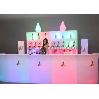 2016 XGC Brand LED Light Up Glowing Plastic Counter Table For Hotel Furniture