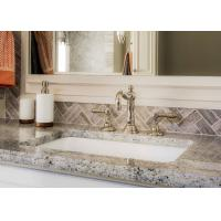 Giallo Caspian Natural Marble Bath Vanity Tops With Eased Edges
