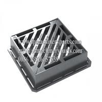China BS EN124 Class D400 Heavy Duty Ductile Iron Gully Gratings Double Triangular (100mm) For Main Roads wholesale