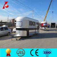 China Chinese two horse trailer for sale,3 horse angle load trailer manufacturer on sale
