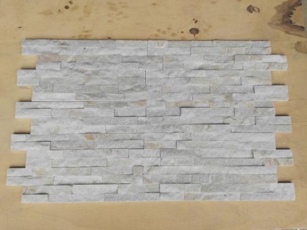 Quality Ledge White Quartzite Stone Veneer Wall Stone Panels For Interior Decoration for sale