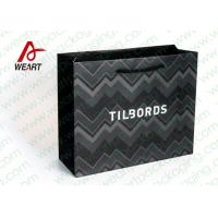 Shirt Shop Black Custom Branded Paper Bags With Logo Matte Lamination Suface