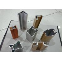 Buy cheap Wood Finished Aluminium Door Profiles Strength Hardness Wear Resistance from wholesalers