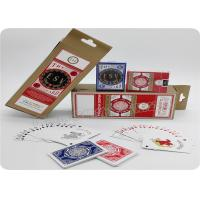 China Baccarat Blackjack Casino Quality Playing Cards 2.5 X 3.5 Inch Bridge Size wholesale