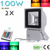 China Beautiful Design 100W RGB LED Outdoor Waterproof Flood Light Wash Floodlight Lighting With Remote Controller AC85-265V wholesale