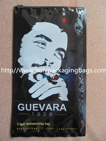 Quality Cigar moisturizing packaging plastic bag with zipper head for sale