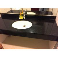 """22"""" X 60"""" Granite Vanity Countertops Black Galaxy For Hotel With Skirting"""