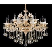 China White Glaze and Jade Contemporary Crystal Chandeliers 15 Lights on sale