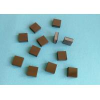 China Tips Square PCD Cutting Tool Blanks Diamond And Tungsten Carbide Brazed wholesale