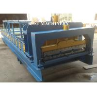 China Steel IBR Roofing Wall Roof Tile Making MachineHydraulic Cutting Type on sale