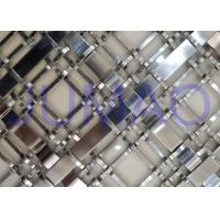 China Silver Wire Mesh Grille Inserts For Cabinets , Luxury Yachts Decorative Metal Mesh on sale