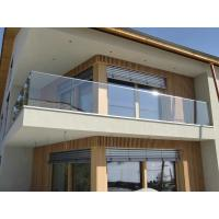 China Aluminum U Channel Tempered Glass Balcony Railing For Stair Deck Balustrade on sale