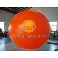 China Huge Orange Color Waterproof Inflatable Round Balloons for Outdoor Advertising on sale