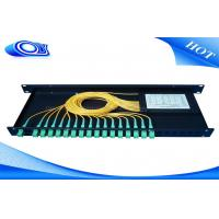 China Indoor Waterproof 1 X 32 Inserting Optical PLC Splitter Total Enclosed Structure wholesale