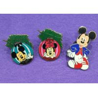 China Cute Mouse Hard Novelty Lapel Pins Custom / Color In Nickel Plating wholesale