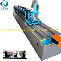 China U Channel Stud And Track Roll Forming Machine With Manual Decoiler / Runout Table wholesale