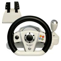 China Adjustable Wireless / Wired PC Game Racing Wheel For Platform wholesale