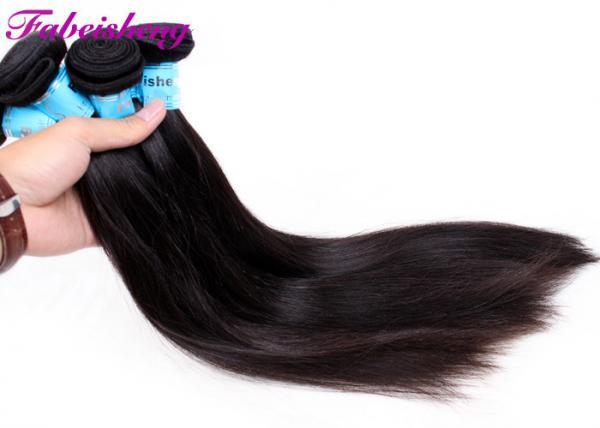 Quality Natural Black 1b Real Virgin Brazilian Hair / Straight 100% Human Brazilian Hair Bundles for sale