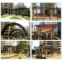 China pergola canopy kits review WPC(Wood plastic composites)material wholesale