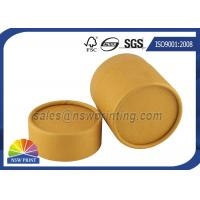 Quality No Printing Kraft Cardboard Tubes Packaging , Cylinder Round Kraft Paper Cans for sale