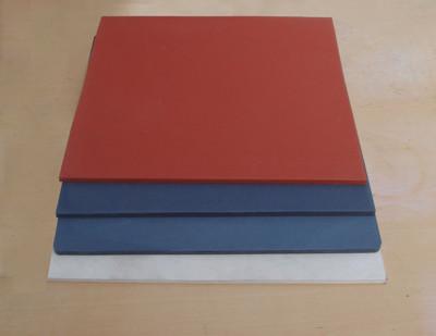 Quality Low Hardness Heat Press Silicone Sponge Rubber Foam Sheet red gray black for sale