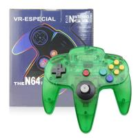China Clear Green N64 Game Controller Classic Wired Gamepad Joystick Plastic Material on sale