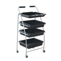 China 4 Layers Custom ABS Plastic Hair Salon Hand Trolley Cart with Anti Abrasion wholesale
