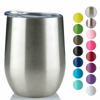 China 220ml Stainless Steel Stemless Wine Tumblers wholesale