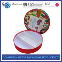 China Round Shape Rigid Gift Boxes Recyclable Chocolate Packaging Boxes Sedex Assured on sale
