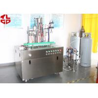 China Efficient Can Filling Machine For Adhesive Remover Spray Semi Automatic 800-1100cans/Hour wholesale
