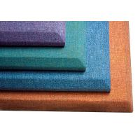China Fiberglass Cloth Office Building Acoustic Fabric Panels 50 mm Thickness on sale
