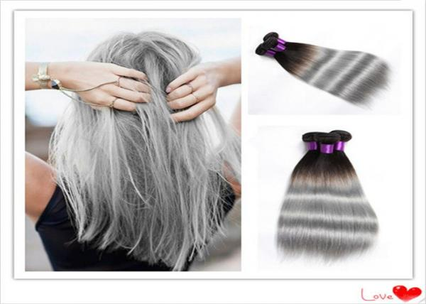 Quality Professional Remy Wet and Wavy Ombre Human Hair Extensions For White Girl for sale
