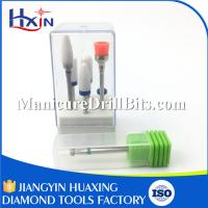 China Medium / Fine Carbide Manicure Drill Bits For Nail Polishing Shank Diameter 2.35mm wholesale