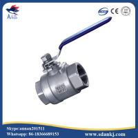 China High quality 2 pcs thread connection flat lever handle cf8m stainless steel water gas ball valve wholesale