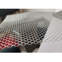 China 3*6mm Hole 0.5mm Thickness Diamond Shape Wire Mesh For Leaves Filter wholesale
