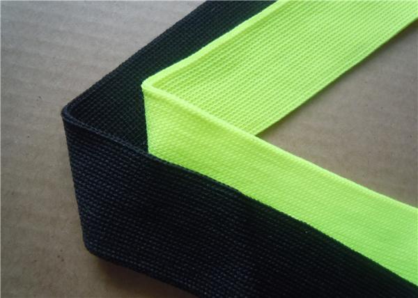 Quality Blue Plain Woven Jacquard Ribbon Elastic , Decorative Trim Ribbon for sale