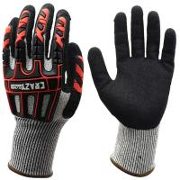 China 13G Oilfield Safety Work Cut Proof Work Gloves Anti Vibration Heavy Duty Impact Gloves wholesale