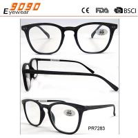 Buy cheap New arrival and hot sale of plastic reading glasses, suitable for women and men from wholesalers