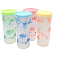 China Customized Unbreakable Yellow PP Plastic Cup With Personalized Patterns on sale