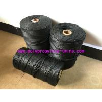 China High Performance Filling Splityarn PP Yarn Black Color 2.3 - 3.8 G / D Tenacity on sale