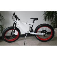 Buy cheap 48v3000w TFT colorful display white alloy enduro frame snow fat electric bike from wholesalers