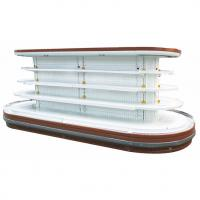 Supermarket Island Commercial Open Display Refrigerator With Rounded Ends