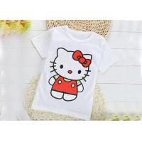 China Breathable Crew Neck Infant Toddler T Shirts 0.16 Kg Silk Screen Printing on sale