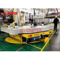 China 360 degree free turning industry cross rail applying turntable transfer cart move on rails on sale