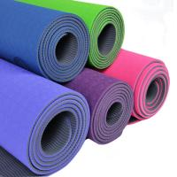 China Beautiful Extra Thick Non Slip TPE Yoga Mats With Shockproof , Anti-Skid wholesale