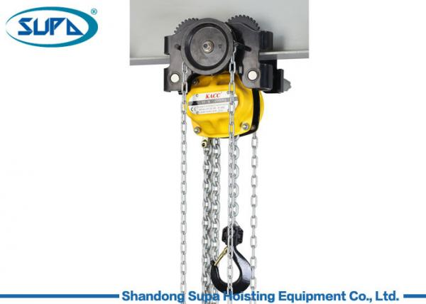 Quality KACC Manual Chain Hoist Lever Block 10m Lifting Height With Monorail Trolley for sale