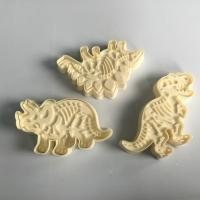 China 3 Pieces Set Skeleton Dinosaur Cookie Cutters , Stampers Cake Decoration Molds on sale