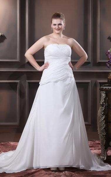 Plus size straight wedding dresses images for Long straight wedding dresses