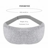 China Ultra Soft Gray Memory Foam Eye Mask For Relaxation Spa Adjustable Strap Design wholesale