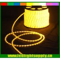 China yellow colored rope 110V 2 wire led christmas decaration lights wholesale